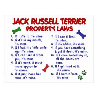 Leyes 2 de la propiedad de JACK RUSSELL TERRIER Tarjeta Postal