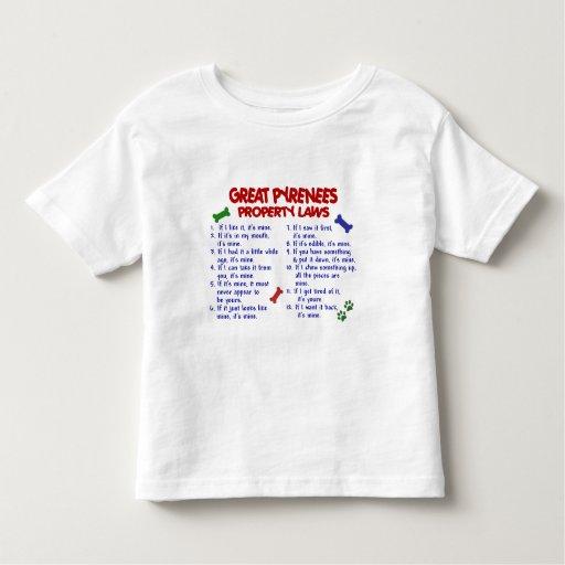 Leyes 2 de la propiedad de los GRANDES PIRINEOS T Shirt