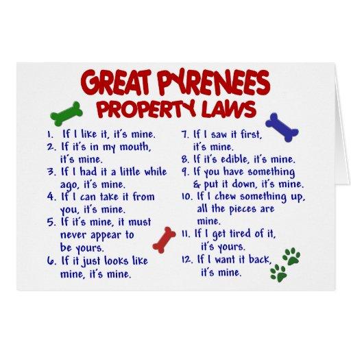 Leyes 2 de la propiedad de los GRANDES PIRINEOS Felicitaciones