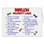 Leyes 2 de la propiedad de PAPILLON Felicitación