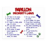 Leyes 2 de la propiedad de PAPILLON Postal