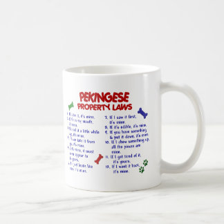 Leyes 2 de la propiedad de PEKINGESE Tazas De Café