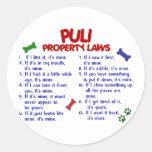 Leyes 2 de la propiedad de PULI Etiquetas Redondas