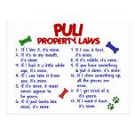 Leyes 2 de la propiedad de PULI Tarjeta Postal