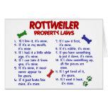 Leyes 2 de la propiedad de ROTTWEILER Felicitaciones