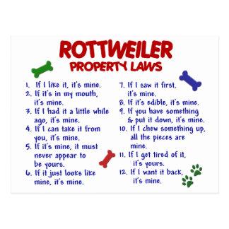 Leyes 2 de la propiedad de ROTTWEILER Postal