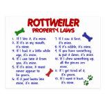 Leyes 2 de la propiedad de ROTTWEILER Tarjetas Postales