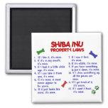 Leyes 2 de la propiedad de SHIBA INU Imán Cuadrado
