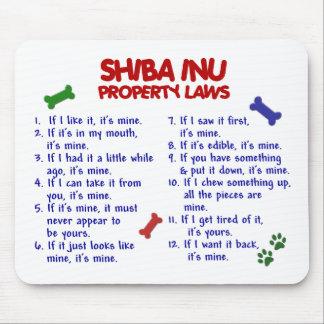 Leyes 2 de la propiedad de SHIBA INU Tapetes De Ratones