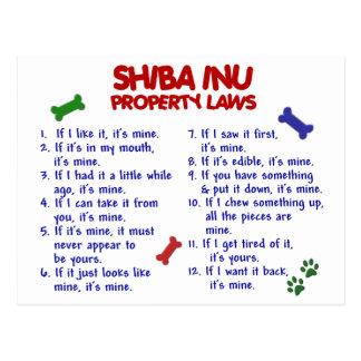 Leyes 2 de la propiedad de SHIBA INU Postal