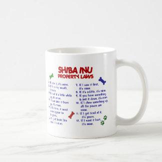 Leyes 2 de la propiedad de SHIBA INU Taza De Café