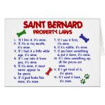 Leyes 2 de la propiedad de ST BERNARD Tarjeta