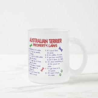 Leyes 2 de la propiedad de TERRIER AUSTRALIANO Taza De Cristal