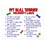Leyes 2 de la propiedad de TERRIER de PITBULL Postales