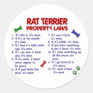 Leyes 2 de la propiedad de TERRIER de RATA Etiqueta Redonda