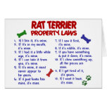 Leyes 2 de la propiedad de TERRIER de RATA Felicitación