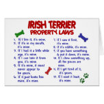 Leyes 2 de la propiedad de TERRIER IRLANDÉS Tarjeton