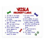 Leyes 2 de la propiedad de VIZSLA Tarjeta Postal