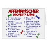 Leyes 2 de la propiedad del AFFENPINSCHER Tarjeta