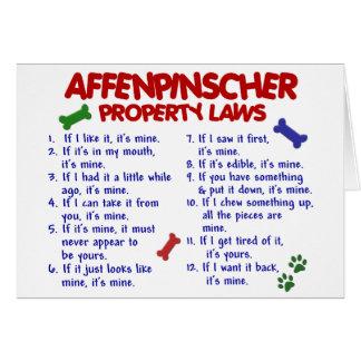 Leyes 2 de la propiedad del AFFENPINSCHER Tarjeta De Felicitación