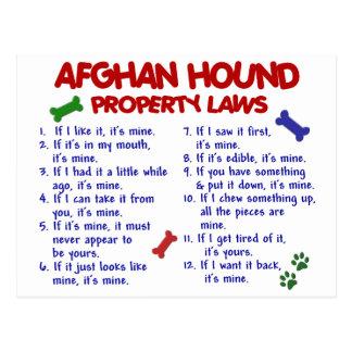 Leyes 2 de la propiedad del afgano tarjeta postal