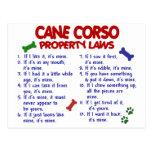 Leyes 2 de la propiedad del BASTÓN CORSO Postal
