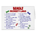 Leyes 2 de la propiedad del BEAGLE Tarjeton