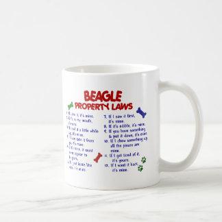 Leyes 2 de la propiedad del BEAGLE Taza Básica Blanca