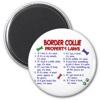 Leyes 2 de la propiedad del BORDER COLLIE Imanes