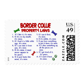 Leyes 2 de la propiedad del BORDER COLLIE Sello Postal