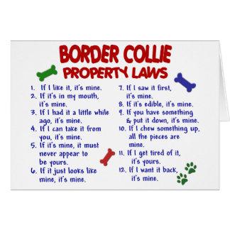 Leyes 2 de la propiedad del BORDER COLLIE Tarjeton