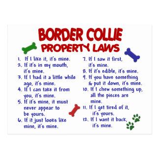 Leyes 2 de la propiedad del BORDER COLLIE Postal