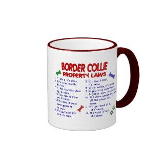 Leyes 2 de la propiedad del BORDER COLLIE Tazas De Café