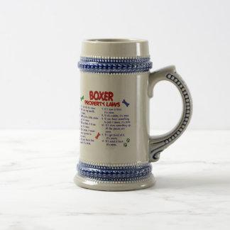 Leyes 2 de la propiedad del boxeador jarra de cerveza