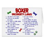 Leyes 2 de la propiedad del boxeador tarjeta
