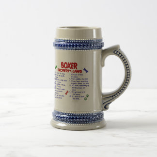 Leyes 2 de la propiedad del boxeador taza de café
