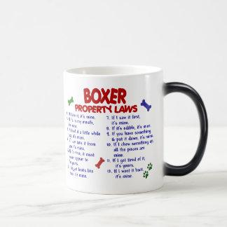 Leyes 2 de la propiedad del boxeador tazas