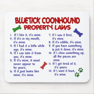 Leyes 2 de la propiedad del COONHOUND de BLUETICK Tapete De Ratones