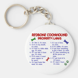 Leyes 2 de la propiedad del COONHOUND de REDBONE Llaveros Personalizados