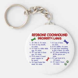 Leyes 2 de la propiedad del COONHOUND de REDBONE Llavero Redondo Tipo Pin