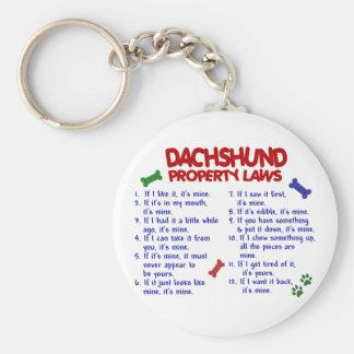 Leyes 2 de la propiedad del Dachshund Llaveros