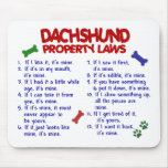 Leyes 2 de la propiedad del Dachshund Alfombrillas De Ratón