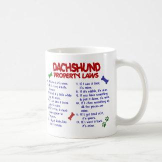 Leyes 2 de la propiedad del Dachshund Tazas De Café