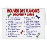 Leyes 2 de la propiedad del DES FLANDRES de BOUVIE Tarjeta De Felicitación