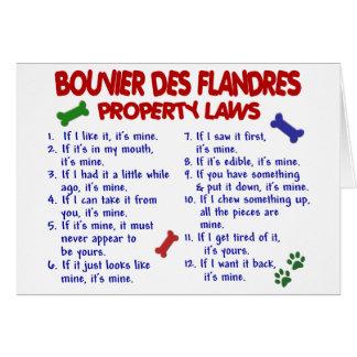Leyes 2 de la propiedad del DES FLANDRES de Tarjeta De Felicitación