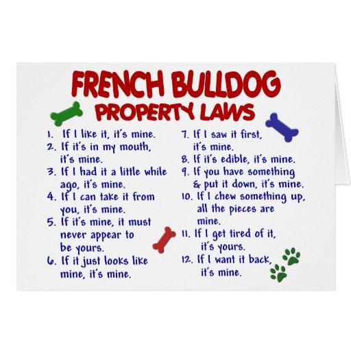 Leyes 2 de la propiedad del DOGO FRANCÉS Tarjetón