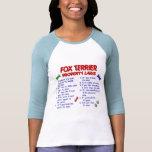 Leyes 2 de la propiedad del FOX TERRIER Camiseta