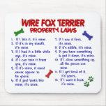 Leyes 2 de la propiedad del FOX TERRIER del ALAMBR Alfombrillas De Raton