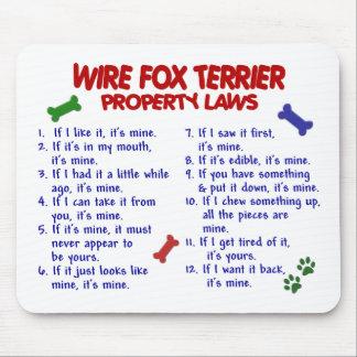 Leyes 2 de la propiedad del FOX TERRIER del ALAMBR Mouse Pad