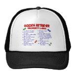 Leyes 2 de la propiedad del golden retriever gorras